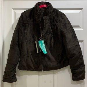 NWT Weatherproof Reversible Quilted Fur Jacket M
